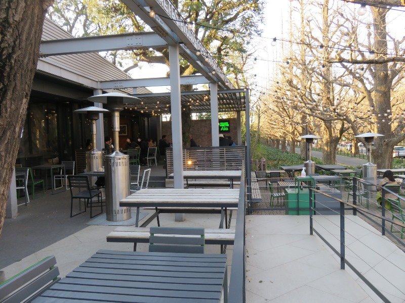 シェイクシャック 外苑いちょう並木テラス席2