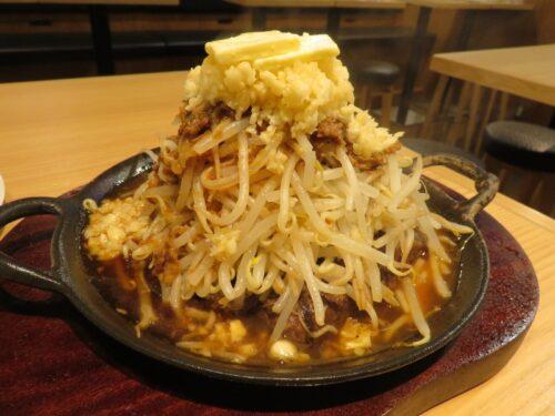 ステーキ五郎のバターダブル野菜マシマシニンニク牛すじ