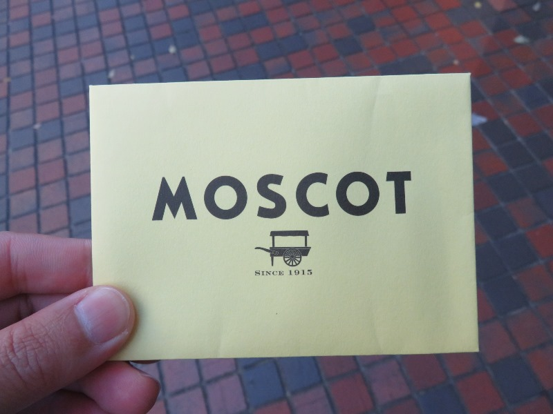 MOSCOTの注文書
