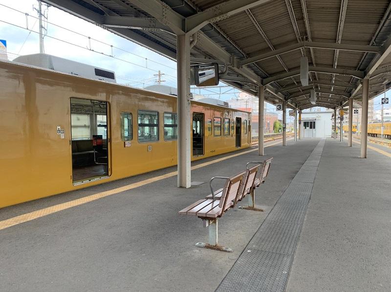 シン•エヴァの聖地である宇部新川駅の構内