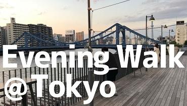 Evening Walk Tokyo Sumida River cover