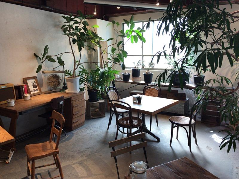 ROUTE BOOKSのアンティーク家具と亜熱帯グリーン