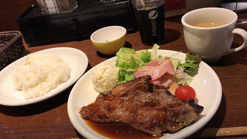上野の肉の大山のステーキ定食