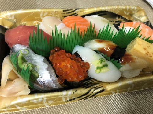 イオンのスーパーで買ったお寿司