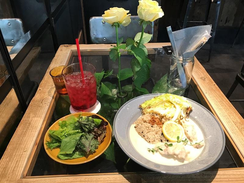 青山フラワーマーケット ティーハウス赤坂Bizタワー店のランチセット