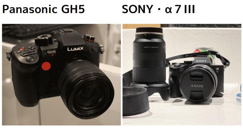 YouTubeの撮影用カメラはSONYのαシリーズとPanasonicのGH5がお勧め