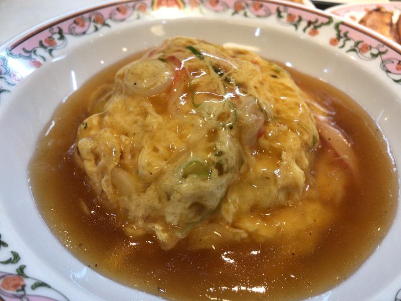 餃子の王将の天津飯(京風ダレ)